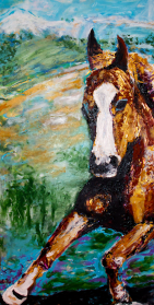 Galloping Pastures | Acrylic on Canvas