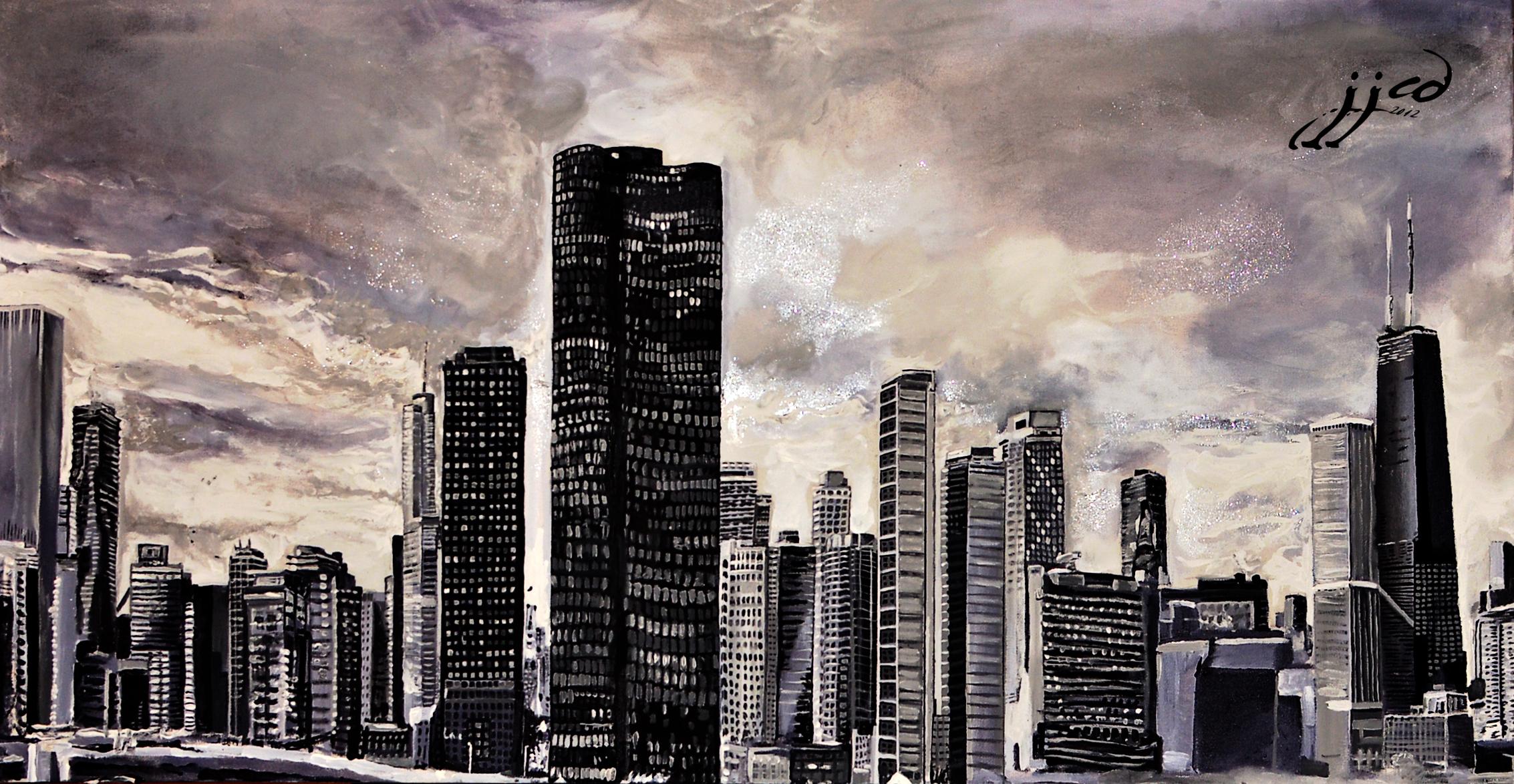 chicago skyline art - photo #19