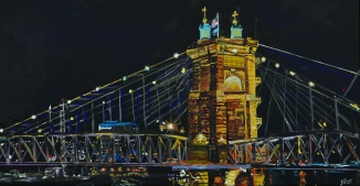 Suspension Bridge Cincinnati ~SOLD