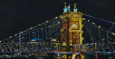 Suspension Bridge Cincinnati ~SOLD