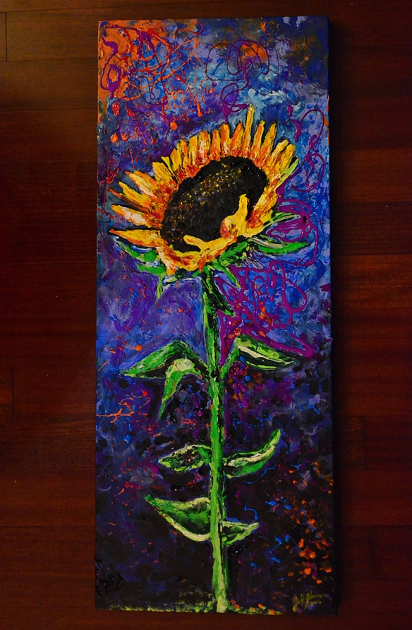 Majestic Sunflower 4 ~ Acrylic on Canvas