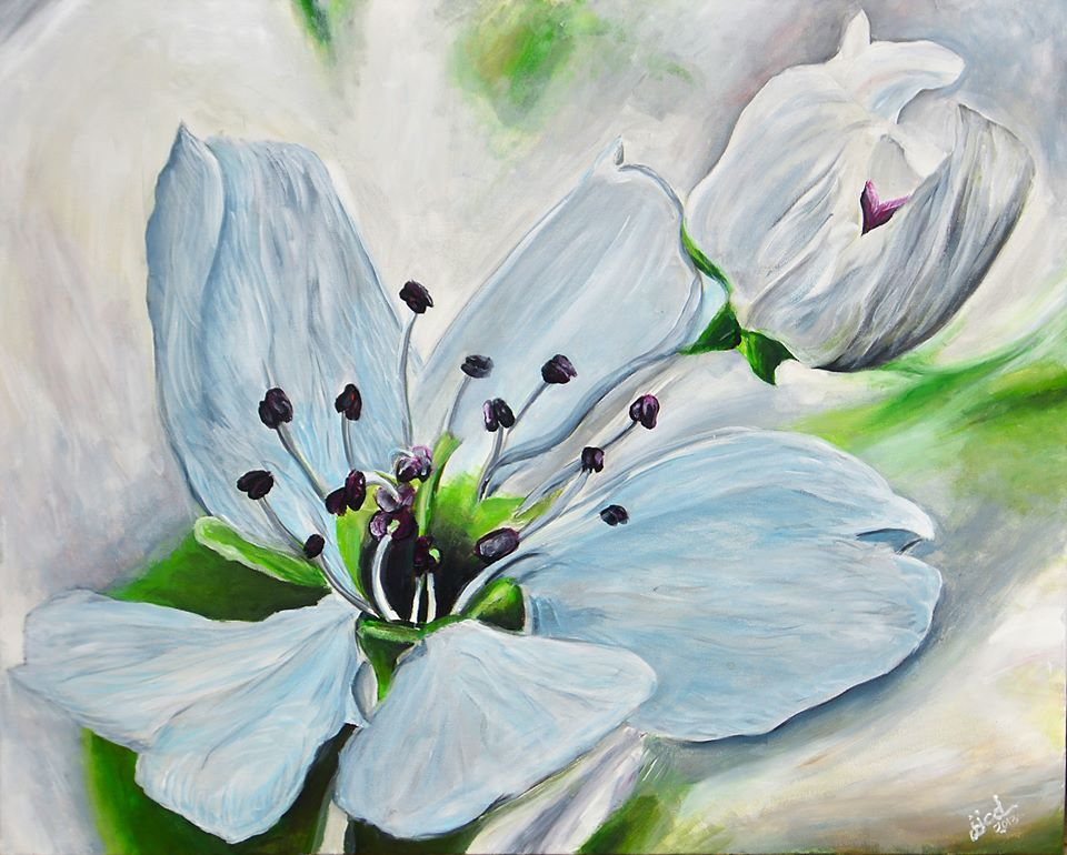 "FreyFlower™ 24"" x 30"" Acrylic on Canvas 