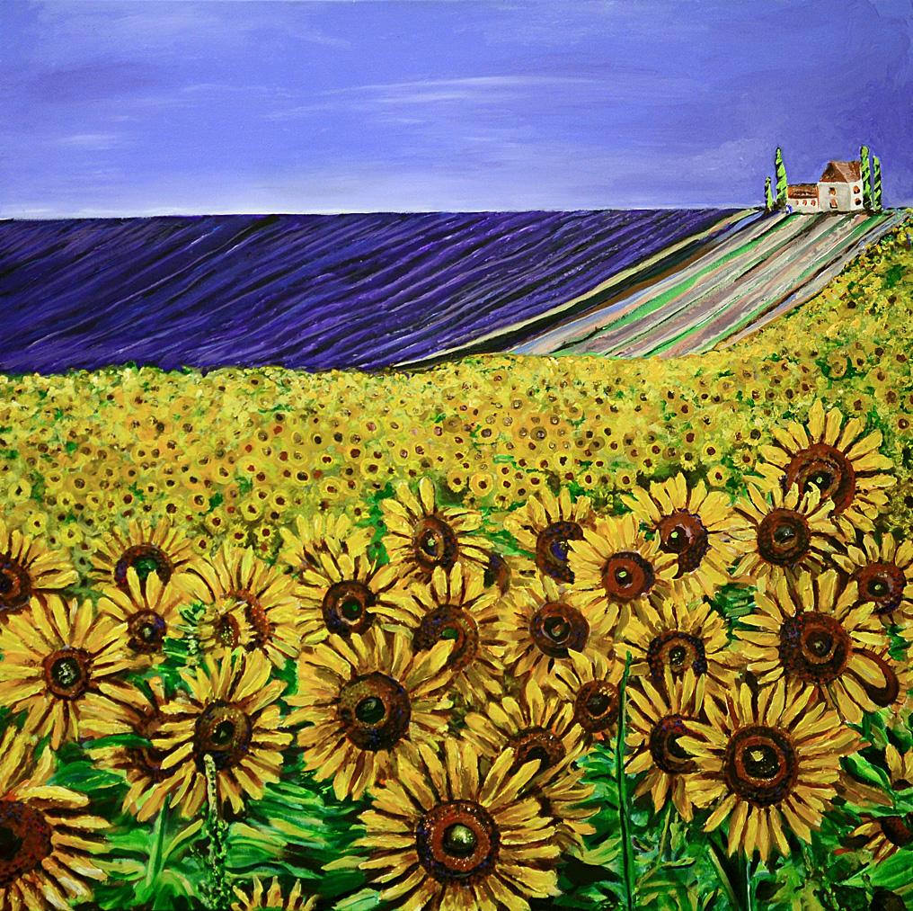 FieldsofSunflowersandLavender