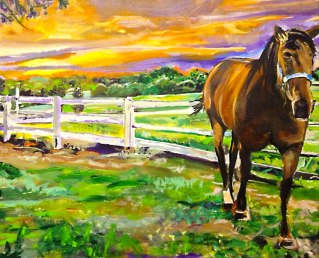 Horse in Union, Kentucky | Acrylic on Canvas