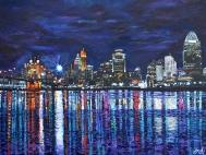 "Cincinnati Brilliance   30"" x 40"" acrylic on canvas ~ SOLD"