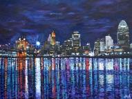 "Cincinnati Brilliance | 30"" x 40"" acrylic on canvas ~ SOLD"