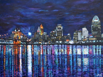 "Cincinnati Brilliance | 30"" x 40"" acrylic on canvas ~ SOLD"