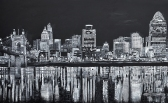 """Cincy in July   40"""" x 65"""" acrylic on canvas ~ SOLD"""