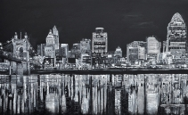 "Cincy in July | 40"" x 65"" acrylic on canvas ~ SOLD"