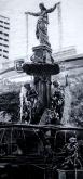 "Fountain Square Cincinnati | 24"" x 52"" acrylic on canvas ~ SOLD"