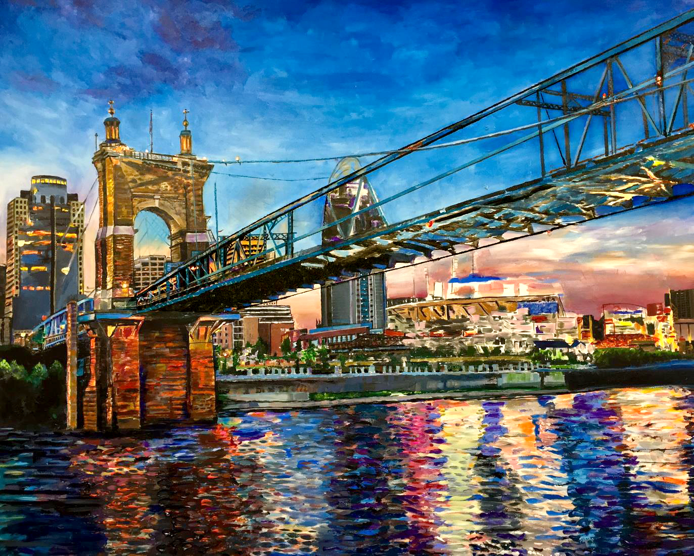 paintings of cincinnati skyline fine art