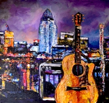 Great American Country, Clayton Anderson's Guitar   acrylic on canvas