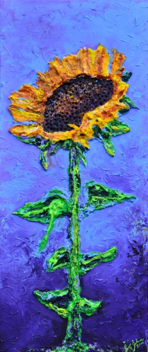"Majestic Sunflower | 16"" x 40"" ~SOLD"