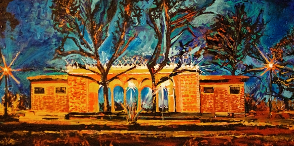 "Mt. Echo Pavillion Cincinnati Painting | 24"" x 48"" acrylic on canvas"