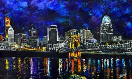 Cincinnati Suspension ~ SOLD | acrylic on canvas