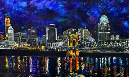 Cincinnati Suspension ~ SOLD   acrylic on canvas