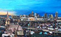 "St. John and Cincinnati | 30"" x 48"" acrylic on canvas ~ NFS"