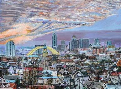 "Sacred View of Cincinnati | 30"" x 40"" acrylic on canvas ~ SOLD"