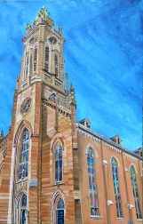 """St. Xavier, Cincinnati   30"""" x 48"""" acrylic on canvas ~ SOLD"""