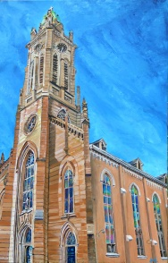 "St. Xavier, Cincinnati | 30"" x 48"" acrylic on canvas ~ SOLD"