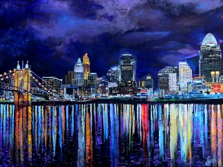 "Cincinnati in April | 30"" x 40"" acrylic on canvas ~ SOLD"