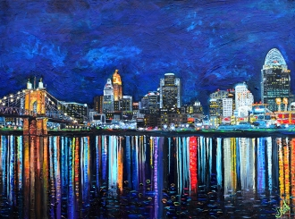 "Cincinnati in July | 30"" x 40"" acrylic on canvas ~ SOLD"