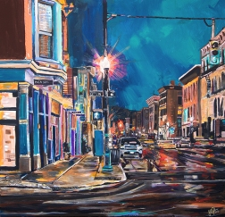 "OTR Cincinnati | 36"" x 36"" acrylic on canvas ~ SOLD"