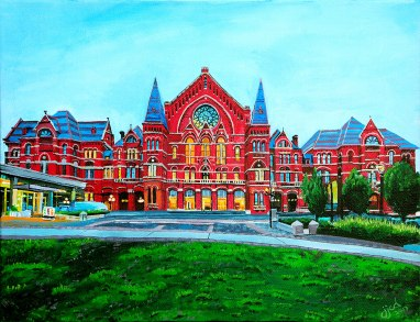 "Music Hall | 11"" x 14"" acrylic on canvas ~ SOLD"