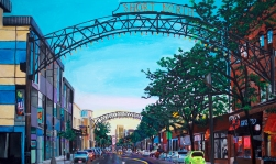 "Short North Columbus | 36"" x 60"" acrylic on canvas ~ SOLD"
