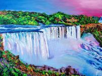 "The Breathtaking Niagara Falls | 30"" x 40"" acrylic on canvas ~ SOLD"