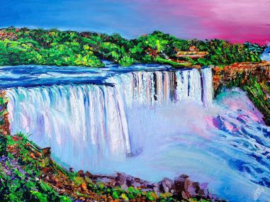 "The Breathtaking Niagara Falls | 30"" x 40"" acrylic on canvas ~ SOLD"