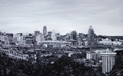 "View from Devou 2 | Cincinnati Skyline 30"" x 48"" ~SOLD"