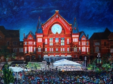 "LUMENOCITY at Music Hall, Cincinnati 30"" x 40"" acrylic on canvas ~ SOLD"
