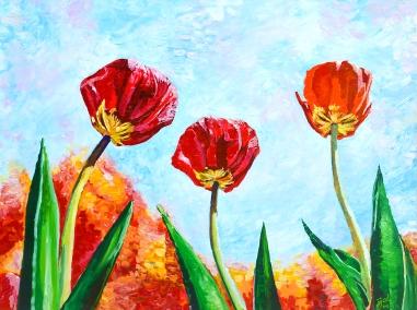 "Brice's Beautiful Botanicals | 36"" x 48"" acrylic on canvas ~ SOLD"